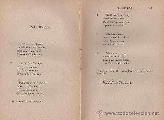 Libros antiguos: CANCIONERO POPULAR GALLEGO, y en particular de la provincia de La Coruña - FOLKLORE ESPAÑOL 1886 - Foto 8 - 24592231