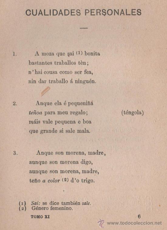 Libros antiguos: CANCIONERO POPULAR GALLEGO, y en particular de la provincia de La Coruña - FOLKLORE ESPAÑOL 1886 - Foto 11 - 24592231