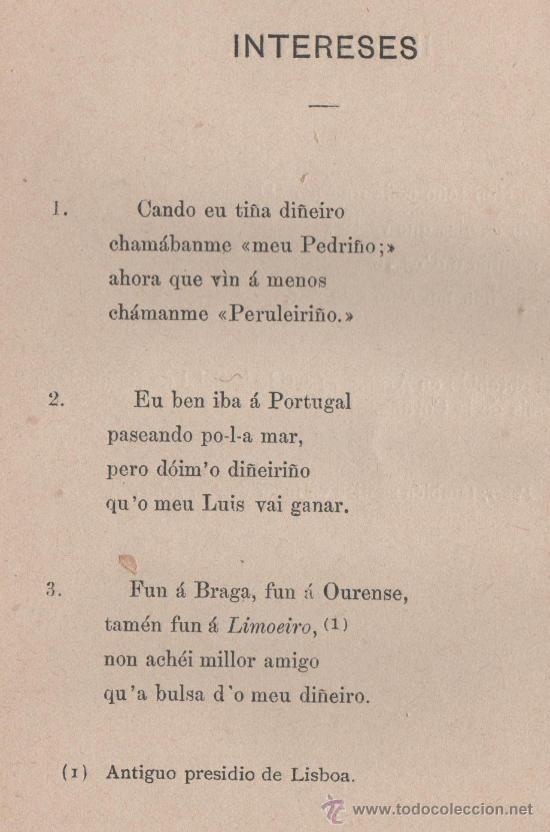 Libros antiguos: CANCIONERO POPULAR GALLEGO, y en particular de la provincia de La Coruña - FOLKLORE ESPAÑOL 1886 - Foto 13 - 24592231