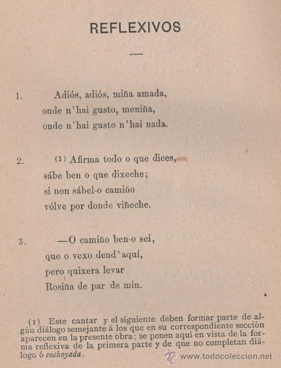 Libros antiguos: CANCIONERO POPULAR GALLEGO, y en particular de la provincia de La Coruña - FOLKLORE ESPAÑOL 1886 - Foto 14 - 24592231