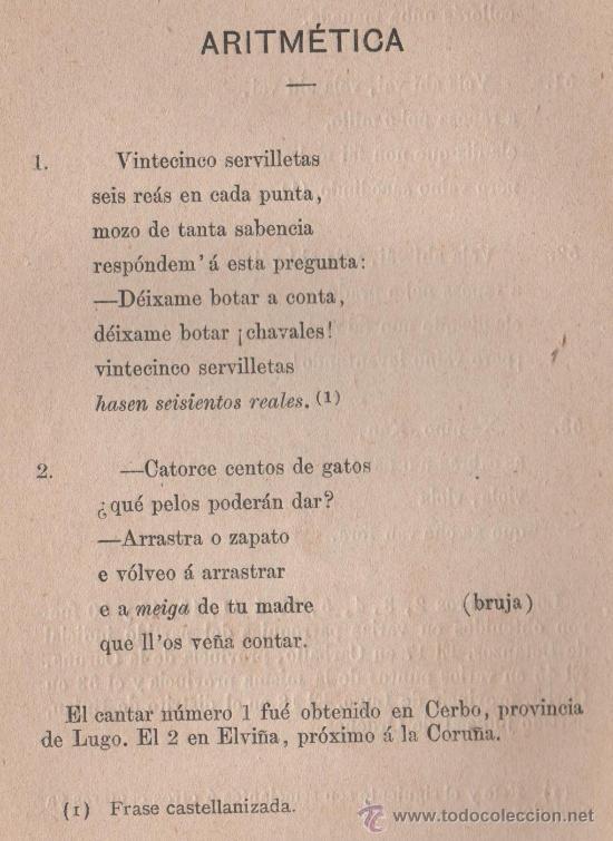 Cancionero Popular Gallego Y En Particular De La Provincia De La Coruña Folklore Español 1886