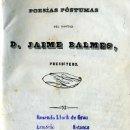 Libros antiguos: JAIME BALMES : POESÍAS PÓSTUMAS (1849). Lote 27483717
