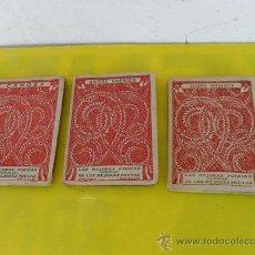 Libros antiguos: 3 PEQUEÑOS LIBROS DE POESIAS. Lote 26793416