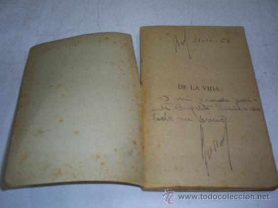 Libros antiguos: De la vida Poesías RENATO ULLOA Mondariz 1919 DEDICATORIA DEL AUTOR RM52963-V - Foto 3 - 27998973