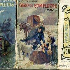 Libros antiguos: RAMÓN DE CAMPOAMOR : OBRAS POÉTICAS COMPLETAS (SOPENA, TRES TOMOS, C. 1925). Lote 28361260