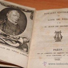 Libros antiguos: POESIAS ESCOGIDAS DE LOPE DE VEGA Y JAUREGUI 1821 CUERO . Lote 28588004