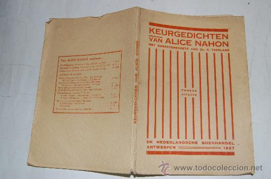 KEURGEDICHTEN. ALICE NAHON RM32642 (Libros antiguos (hasta 1936), raros y curiosos - Literatura - Poesía)