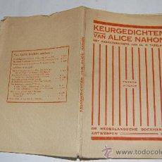Libros antiguos: KEURGEDICHTEN. ALICE NAHON RM32642. Lote 28791907