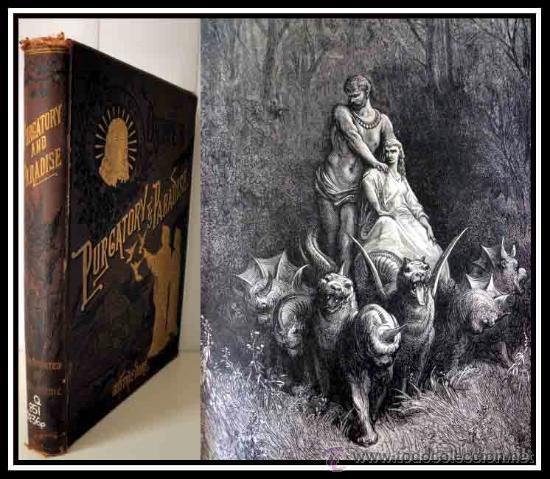 F.F 1800 PURGATORIO Y PARAISO DE DANTE IMPRESIONANTES GRABADOS DE GUSTAVE DORE EXLIBRIS -GRAN TAMAÑO (Libros antiguos (hasta 1936), raros y curiosos - Literatura - Poesía)