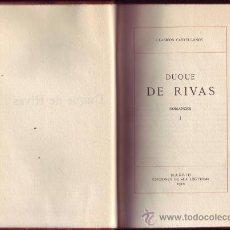 Libros antiguos: DUQUE DE RIVAS. ROMANCES (2 VOLS.) EDICIÓN, Y NOTAS DE ANGEL VALBUENA PRAT.EDIC. . Lote 29140969