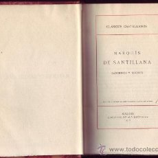 Libros antiguos: MARQUÉS DE SANTILLANA.CANCIONES Y DECIRES. EDICIÓN Y NOTAS DE DON VICENTE GARCÍA DE DIEGO.. Lote 29155616