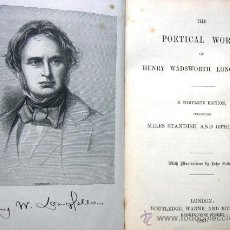 Libros antiguos: THE POETICAL WORKS OF HENRY WADSWORTH LONGFELLOW - LONDON - AÑO 1861 - MILES STANDISH - EN INGLÉS. Lote 29511060