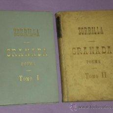 Libros antiguos: GRANADA, POEMA ORIENTAL. PRECEDIDO DE LA LEYENDA DE AL-HAMAR. 2 TOMOS.. Lote 30118691