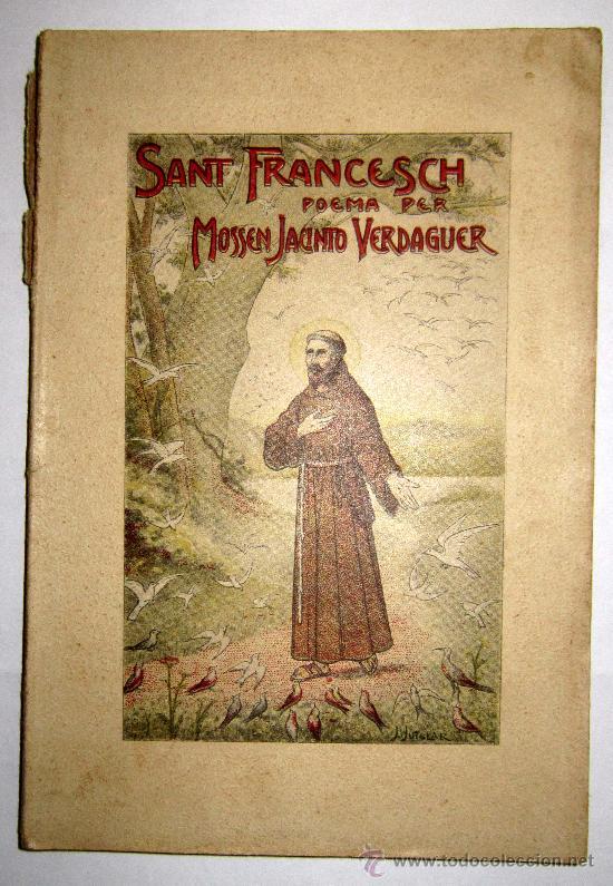 1904 SANT FRANCESCH - POEMA PER MOSSEN JACINTO VERDAGUER (Libros antiguos (hasta 1936), raros y curiosos - Literatura - Poesía)