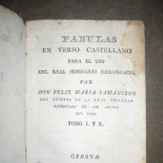 Libros antiguos: FABULAS. ( C. 1800 ). FÉLIX Mª SAMANIEGO.. Lote 30678868