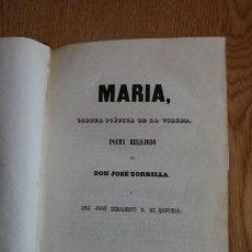 Libros antiguos: MARÍA. CORONA POÉTICA DE LA VIRGEN. POEMA RELIGIOSO. ZORRILLA (JOSÉ) Y QUEVEDO (JOSÉ HERIBERTO G. DE. Lote 30830519