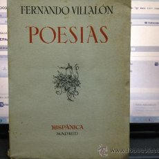 Libros antiguos: POESIAS FERNANDO VILLALON. Lote 31693781