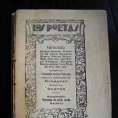 Libros antiguos: COLECCION LOS POETAS. ANTOLOGIA, FERNANDO CASTAN PALOMAR, ORBEGOZO, CUEVAS. MADRID.. Lote 31792728