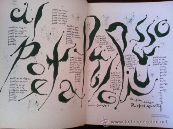 Libros antiguos: A la pintura. Poema del color y la linea (1945-1967). RAFAEL ALBERTI. 95 ilustra. 1968 - Foto 3 - 31989229