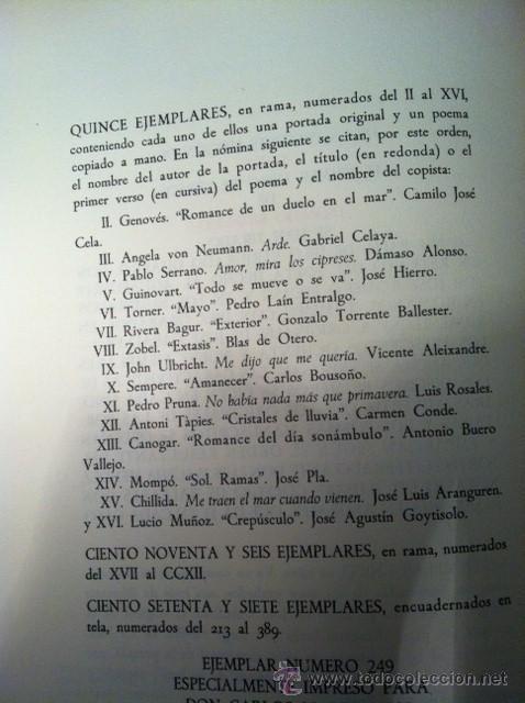 Libros antiguos: PLURAL. DIONISIO RIDRUEJO. Edición de bibliófilo con aguafuerte. Papeles son Armadans - Foto 6 - 31989287