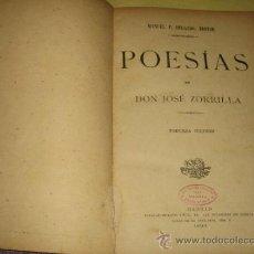 Libri antichi: JOSE ZORILLA - POESIAS - TERCERA ED. 1893 . Lote 32399273