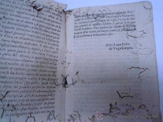 Libros antiguos: ANTIGUO LIBRO DE LOPE DE VEGA S. XVII (1674): RIMAS HUMANAS Y DIVINAS, EN PERGAMINO VER DESCRIPCION - Foto 7 - 32881085