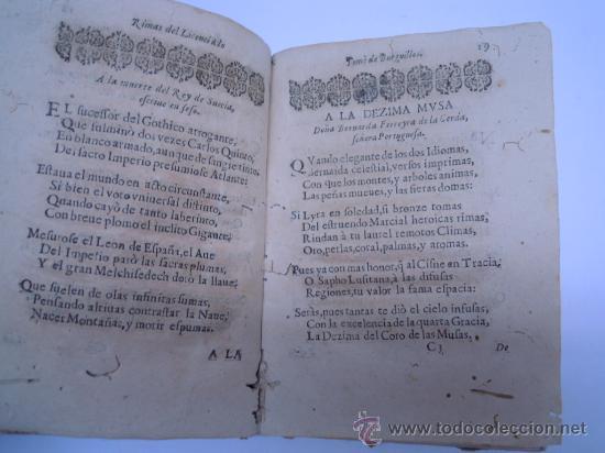 Libros antiguos: ANTIGUO LIBRO DE LOPE DE VEGA S. XVII (1674): RIMAS HUMANAS Y DIVINAS, EN PERGAMINO VER DESCRIPCION - Foto 10 - 32881085