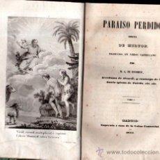 Libros antiguos: PARAÍSO PERDIDO, POEMA DE MILTON, ESCOIQUIZ, 3TOMOS, MADRID, UNIÓN COMERCIAL 1844. Lote 33245967