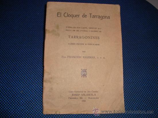 (469) EL CLOQUER DE TARRAGONA (Libros antiguos (hasta 1936), raros y curiosos - Literatura - Poesía)