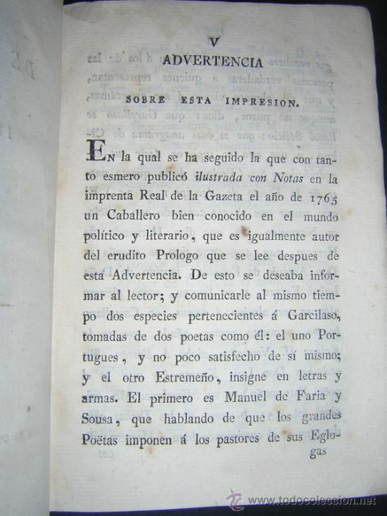 Libros antiguos: 1804 - GARCILASO DE LA VEGA - OBRAS, ILUSTRADAS CON NOTAS - Foto 4 - 34519389
