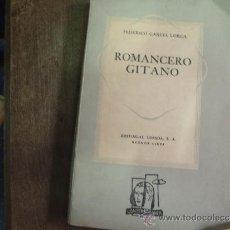 Alte Bücher - ROMANCERO GITANO FEDERICO GARCIA LORCA.LOSADA. - 35047788