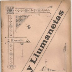 Libros antiguos: LLUMS Y LLUMANETAS, COL. DE TRABALLS EN VERS / J. ALAMALIV. BCN, 1895. 21X14CM.32 P. DEDICATORIA AUT. Lote 35193983