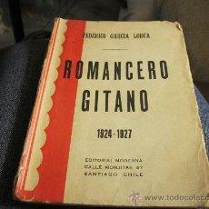 Libros antiguos: FEDERICO GARCÍA LORCA ROMANCERO GITANO EDITORIAL MODERNA SANTIAGO CHILE EDICIÓN RARA - BIBLIÓFILOS. Lote 35820128