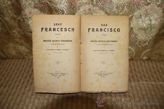Libros antiguos: 2529- SAN FRANCISCO. JACINTO VERDAGUER. LIBR. CIENTIFICO LITERARIA- 1909. - Foto 2 - 35851493