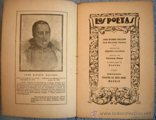 Libros antiguos: LOS POETAS. JUAN NICASIO GALLEGO. SUS MEJORES VERSOS. PROL. ALEJANDRO LARRUBIERA, 1929. - Foto 4 - 35940310