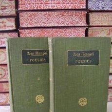 Libros antiguos: POESIES . 2 VOLS. OBRES COMPLETES D'EN JOAN MARAGALL . AUTOR : MARAGALL, JOAN . Lote 37570050