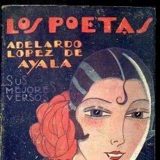 Libros antiguos: LOS POETAS : ADELARDO LÓPEZ DE AYALA (1928) PRÓLOGO DE TOMÁS BORRÁS. Lote 38126011