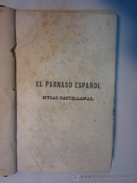 Libros antiguos: El Parnaso español y musas castellanas / de Francisco de Quevedo Villegas - 1866 - Foto 9 - 38362421