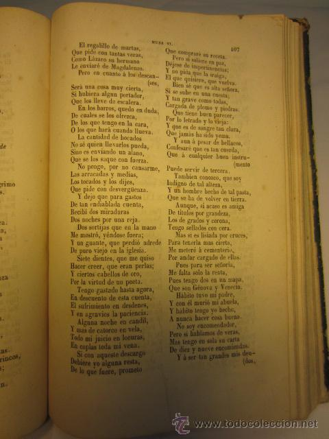 Libros antiguos: El Parnaso español y musas castellanas / de Francisco de Quevedo Villegas - 1866 - Foto 15 - 38362421