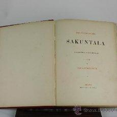 Libros antiguos: 6067 - SAKUNTALA EINE DICHTUNG IN FÜNF GESÄNGEN. FRIEDRICH BODENSTEDT. EDIT. TITZE. 1887.. Lote 38510478