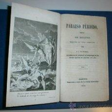 Libros antiguos: OBRA COMPLETA PARAISO PERDIDO DE MILTON DE 1844 EN TRES TOMOS CON GRABADOS. MUY RARA.. Lote 38701032