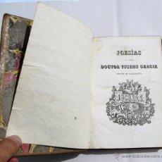 Libros antiguos: POESIAS JOCOSAS Y SERIAS DEL CELEBRE DR. VICENS GARCIA, RECTOR DE VALLFOGONA. JOSEP TORNER, 1840.. Lote 39396573