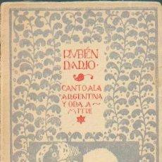 Libros antiguos: CANTO A LA ARGENTINA Y ODA A MITRE. Lote 39824501