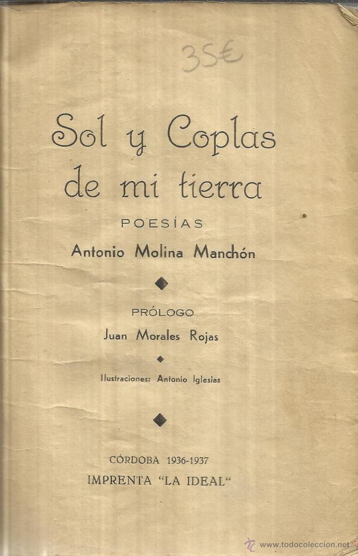 Sol Y Coplas De Mi Tierra Antonio Molina Manch Comprar