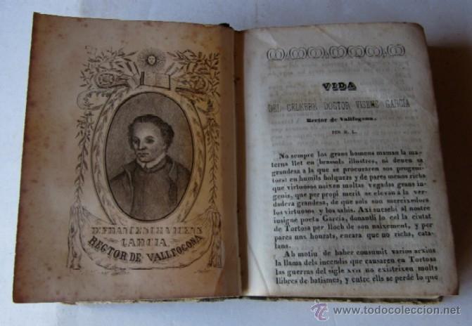 POESIAS JOCOSAS Y SERIAS DEL CELEBRE DOCTOR VICENS GARCIA - RECTOR DE VALLFOGONA - AÑO 1845 (Libros antiguos (hasta 1936), raros y curiosos - Literatura - Poesía)