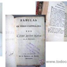 Libros antiguos: FÁBULAS EN VERSO CASTELLANO. IBÁÑEZ, JOSEF AGUSTÍN. 1789. Lote 40793997