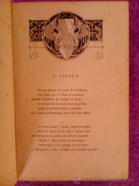 Libros antiguos: CANIGO LLEGENDA PIRENAYCA,MOSSEN JACINTO VERDAGUER 1886 - Foto 3 - 194617032