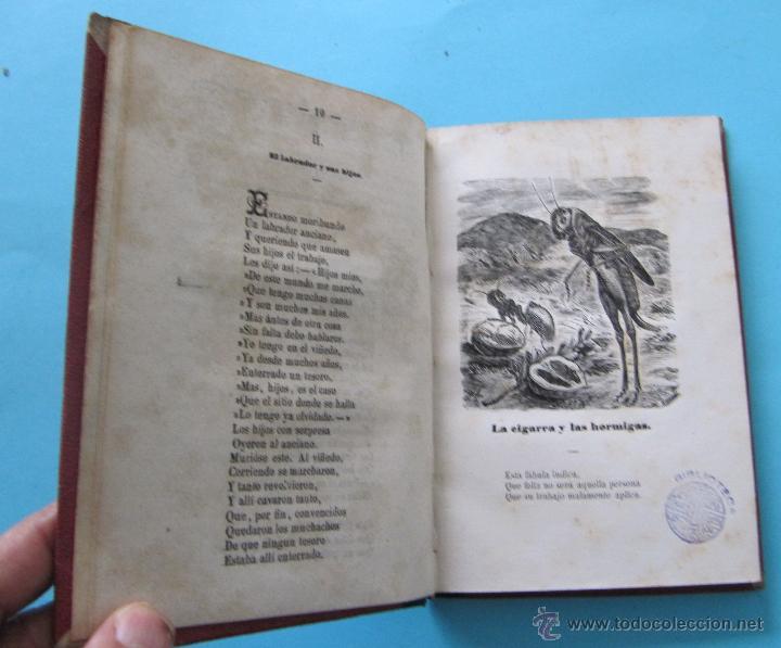 Libros antiguos: FÁBULAS ESCOGIDAS DE ESOPO. TRADUCCION POR FRANCISCO PELAYO BRIZ. MADRID BARCELONA, 1863. - Foto 2 - 40927236