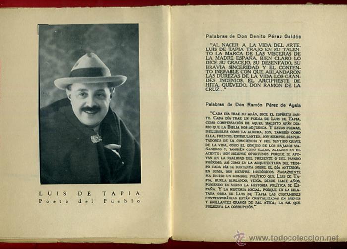 Libros antiguos: LIBRO, 50 COPLAS DE LUIS TAPIA , 1932 , HOMENAJE AL POETA DEL PUEBLO , ORIGINAL - Foto 2 - 41007204