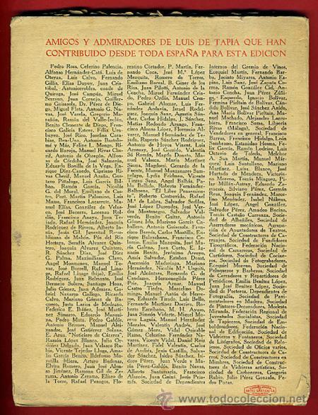 Libros antiguos: LIBRO, 50 COPLAS DE LUIS TAPIA , 1932 , HOMENAJE AL POETA DEL PUEBLO , ORIGINAL - Foto 4 - 41007204